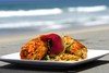 Crab Cake on the Beach in Southern California