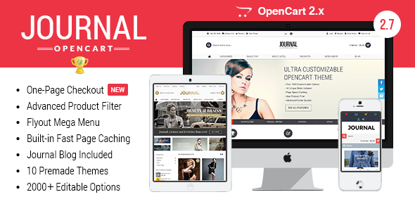 Journal v2.8.4 – Advanced Opencart Theme