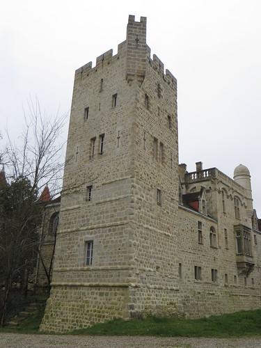 Donjon du château de Grignols (XVe, XVIe, XIXe), Grignols, Landes de Gascogne, Gironde, Aquitaine, France.