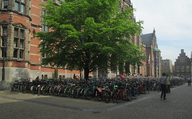 Bikes outside Groningen University
