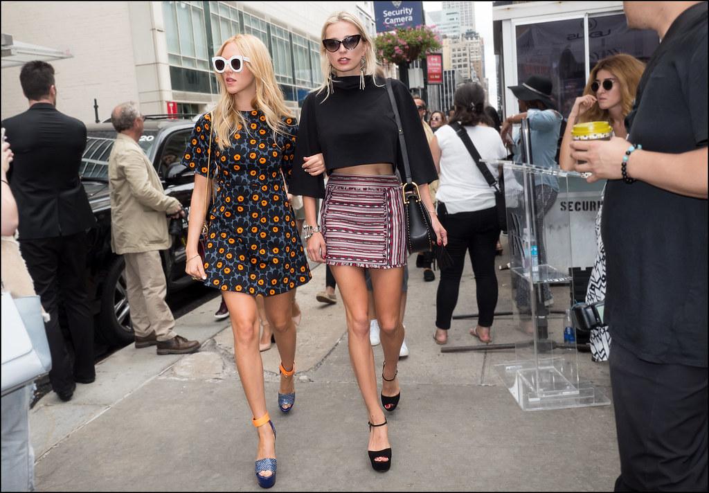 Caroline Vreeland and Shea Marie  NYFW 9-2015