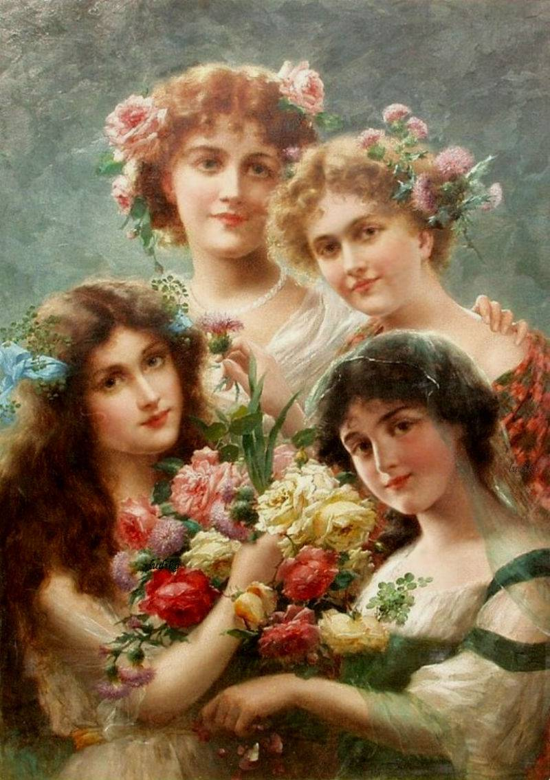 Girls by Emile Vernon, Date unknown