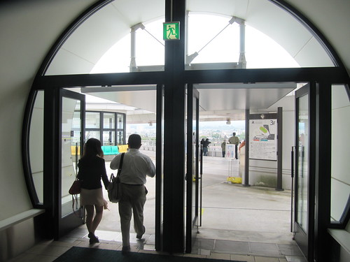 函館競馬場の光の広場入口