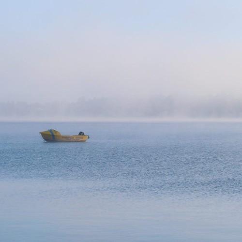 朝靄のロトルア湖 #airnzjp #link_nz