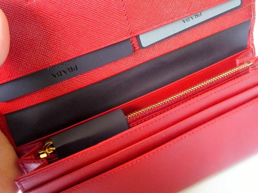 Inside Red Prada Purse