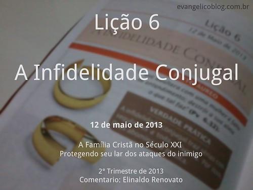 8729950946 60c2f684f0 Lição 6   A Infidelidade Conjugal