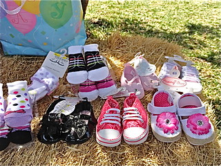baby shoes at baby shower