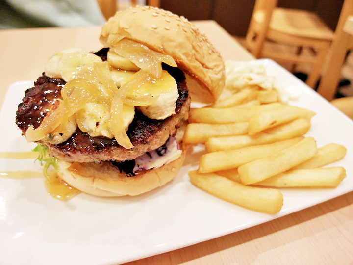 banana burger steak