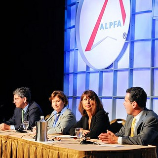ALPFA panel discussion with Brandeis IBS Dean Bruce Magid