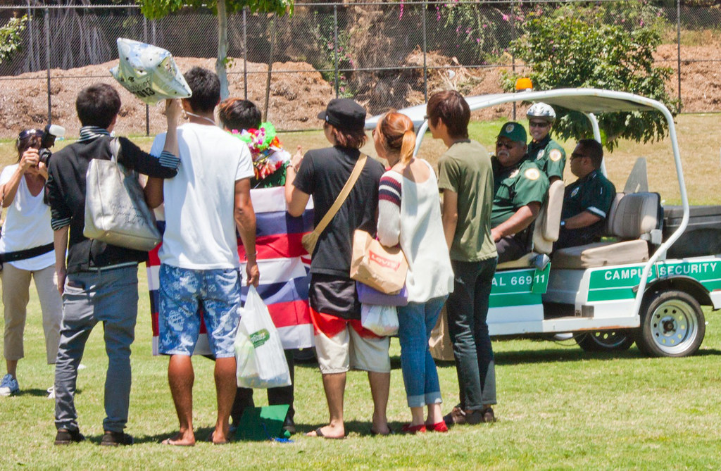 <p>UH Manoa's campus security keeping everyone safe at the commencement festivities.</p>