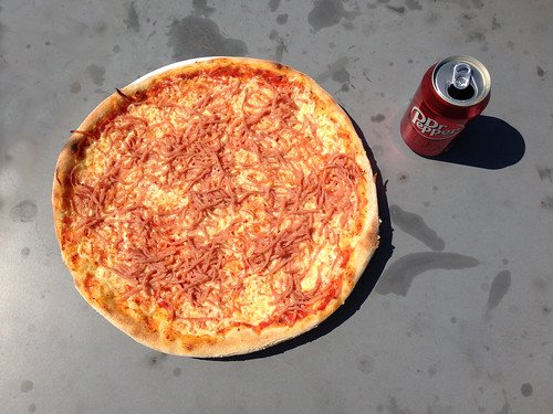 Pizza og Dr. Pepper