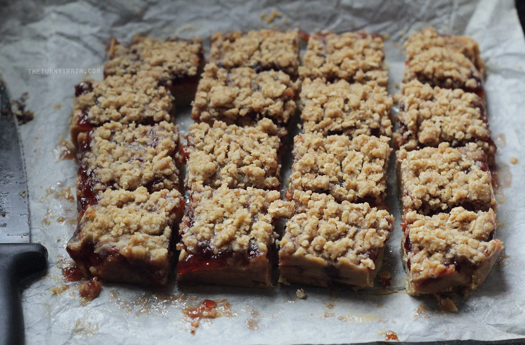 8778605053 b39149eb6b b - No turning back now + Peanut Butter and Jelly Bars