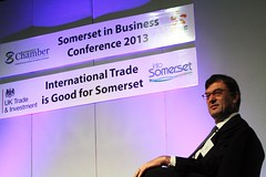 Keynote speaker Nick Baird, CEO UKTI at Somerset in Business Conference 2013