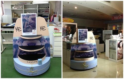 品牌香水蛋糕展示櫃完成品