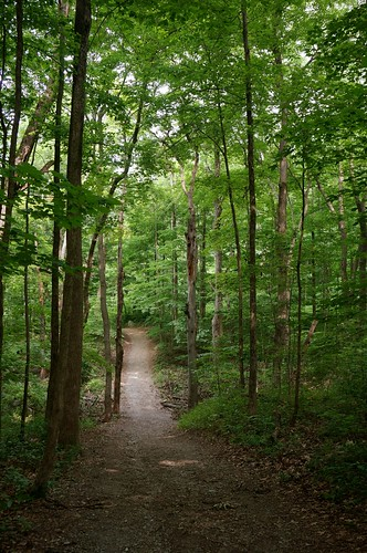 Hiking on Trail 5, Mounds State Park, Anderson, Indiana