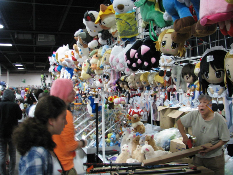 A plushie booth in the Dealers' Room