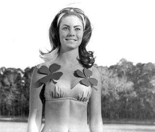 Young woman modeling a bikini at Maclay Gardens State Park: Tallahassee, Florida