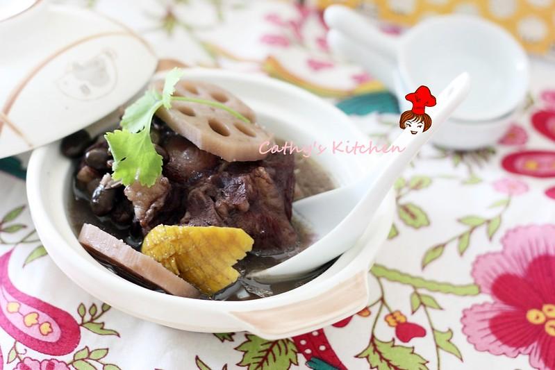 濃郁飄橙香 - 黑豆清燉牛尾湯 Black Bean Oxtail Stew  3