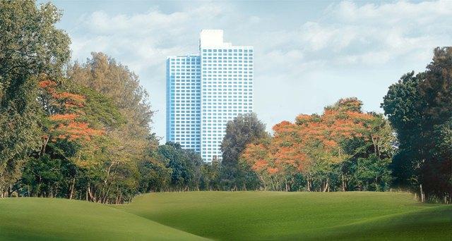 Hotel Mulia Senayan_Facade from Senayan Golf Course