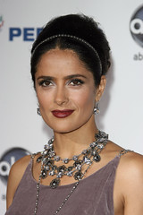 Name: Salma Hayek Age: 48 Nationality: Mexican Job: Actress Movies: Frida, Desperado