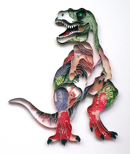 Quilled Dinosaur by Natasha Molotkova