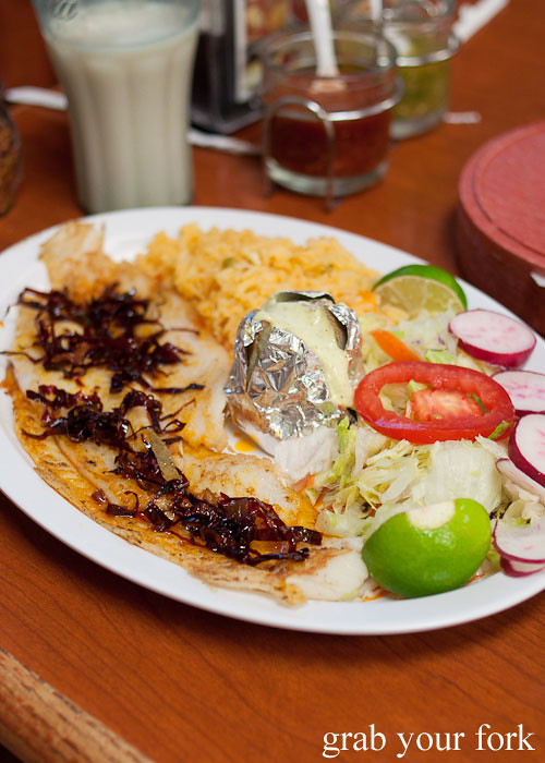 grilled fish at tamales lilianas restaurante mexican in east los angeles