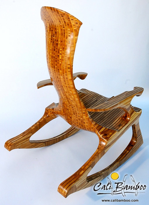 bamboo plywood rocking chair