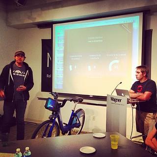 @ryanj representing @openshift and @OpenOakland at #betaNYC at @nyurudin! #cfabrigade