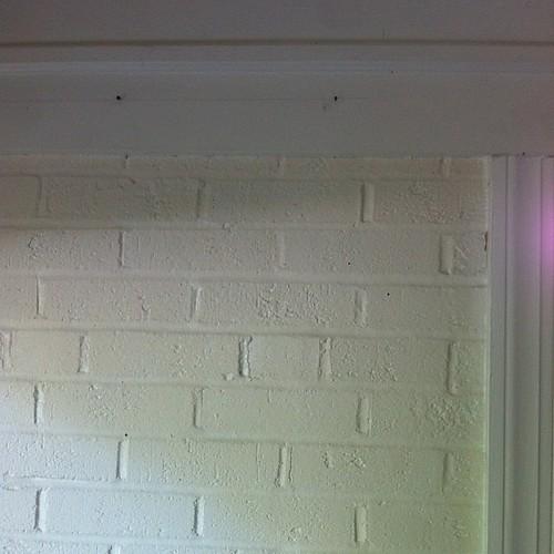 Breakfast room is next on home makeover list. #Before photo. #applepeel #brick
