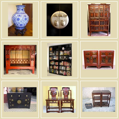 antique furniture and furnishings