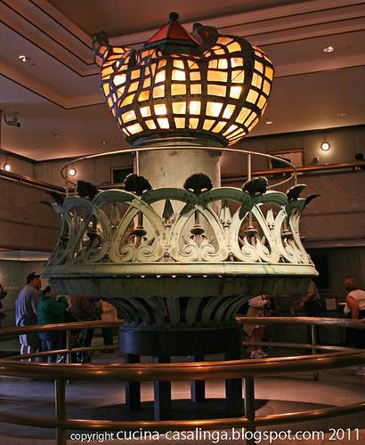 Freiheitsstatue Museum Fackel Kopie