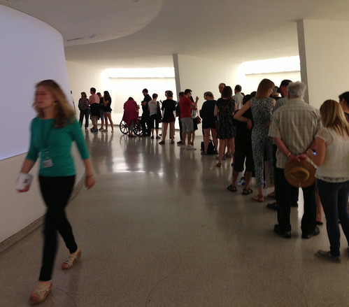The line at the Turrell exhibit, Guggenheim Museum