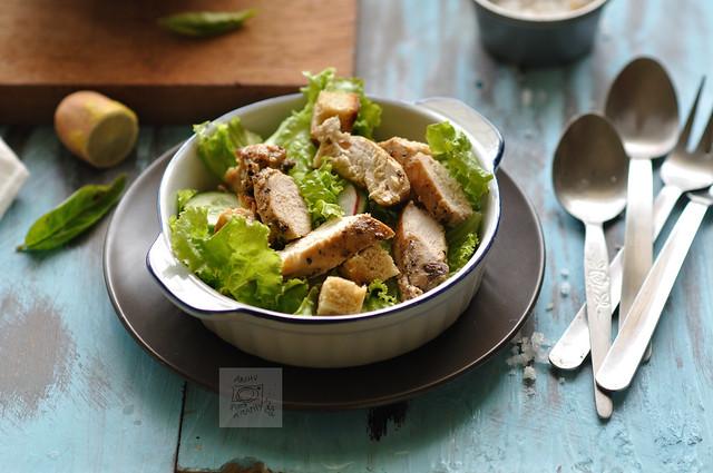 Day 215.365 –  Chicken Salad (a week of  Blue Background  - VI)