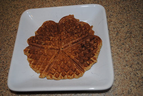 Overnight Single Serving Apple Spice Waffles