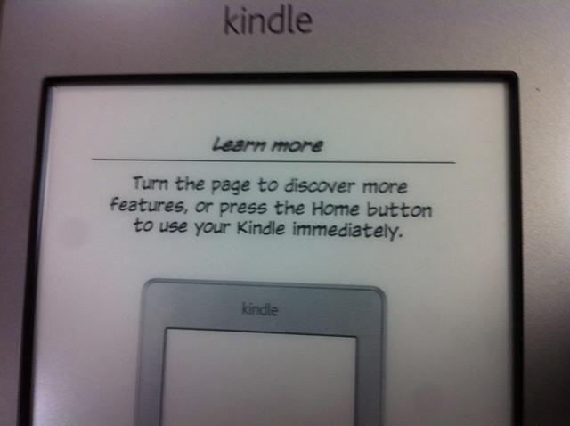 Kindle tactile d'Amazon déballage