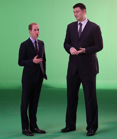 September 12th, 2013 - Yao Ming with Prince William filming a PSA in London for WildAid