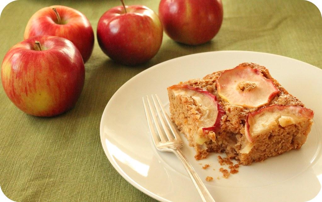 vegan apple pear cake
