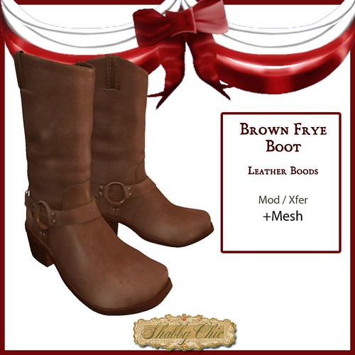 Brown Leather Frye Cowboy Boot by Shabby Chics