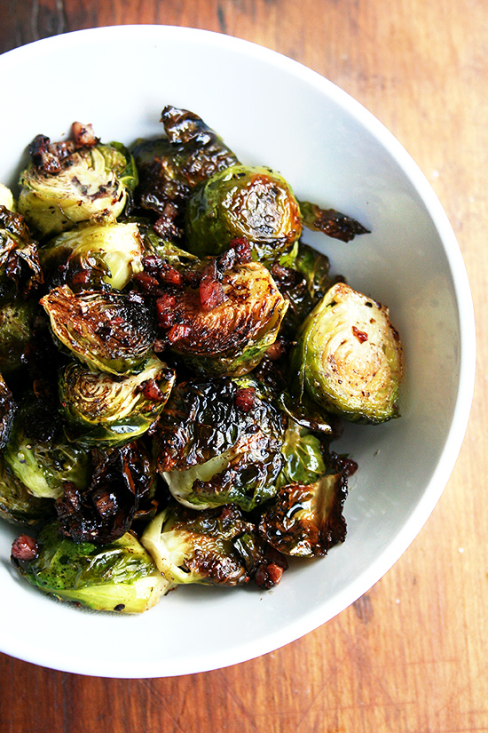 Ina Garten's roasted Brussels sprouts with pancetta and balsamic