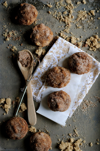 Baked Apple Cinnamon Doughnut Holes
