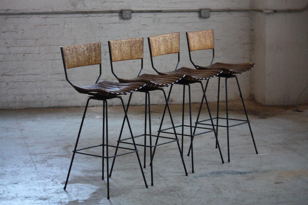 Tremendous Determined Arthur Umanoff Mid Century Modern Rush Back Swi Andrewgaddart Wooden Chair Designs For Living Room Andrewgaddartcom