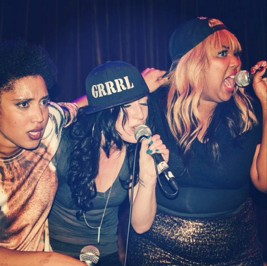 The three women of GRRRL PRTY