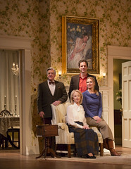 Richard Poe, Maureen Anderman, James Waterston, and Pamela J. Gray in the Huntington Theatre Company's production of AR Gurney's THE COCKTAIL HOUR.  November 15 - December 15, 2013 at Avenue of the Arts / BU Theatre. huntingtontheatre.org. Photo T.Charles Erickson