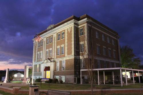Perry Co. Courthouse at Night - Linden, TN
