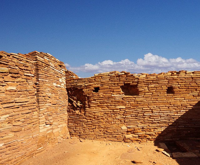 Wupatki National Monument, composite image of ruins, north-central Arizona, near Flagstaff, October 6, 2011