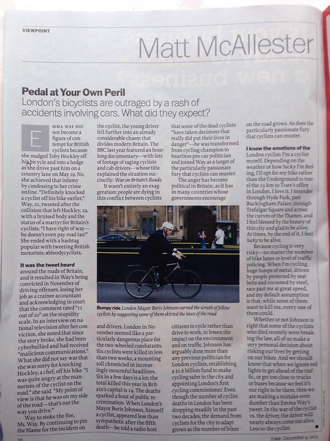 Time magazine on #bloodycyclists