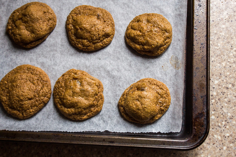 triple ginger cookies, fresh from the oven