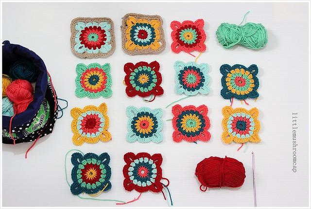Crochet Granny squares blanket _6