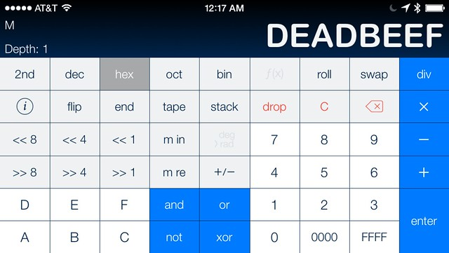 Cleaned landscape PCalc screenshot