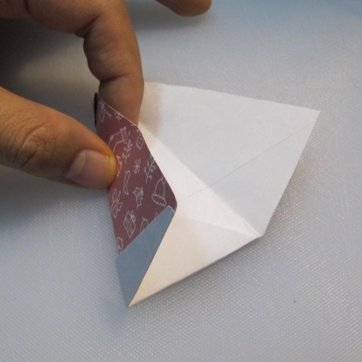 วิธีพับกระดาษรูปหมวกซานต้า 019